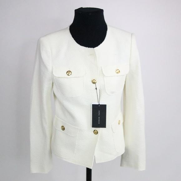 NWT Zara Cream Blazer w  gold buttons - M - D008 809c8474a